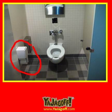 Ya jagoff guest blog public bathroom toilet paper for Placement of toilet paper holders in bathrooms