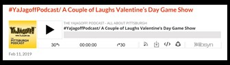 YaJgoff Podcast Player Bar, Valentines Day Gameshow