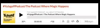 YaJagoff Podcast Player Bar