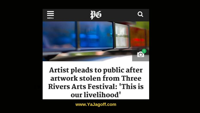 Arts Festival Thieves, art stolen