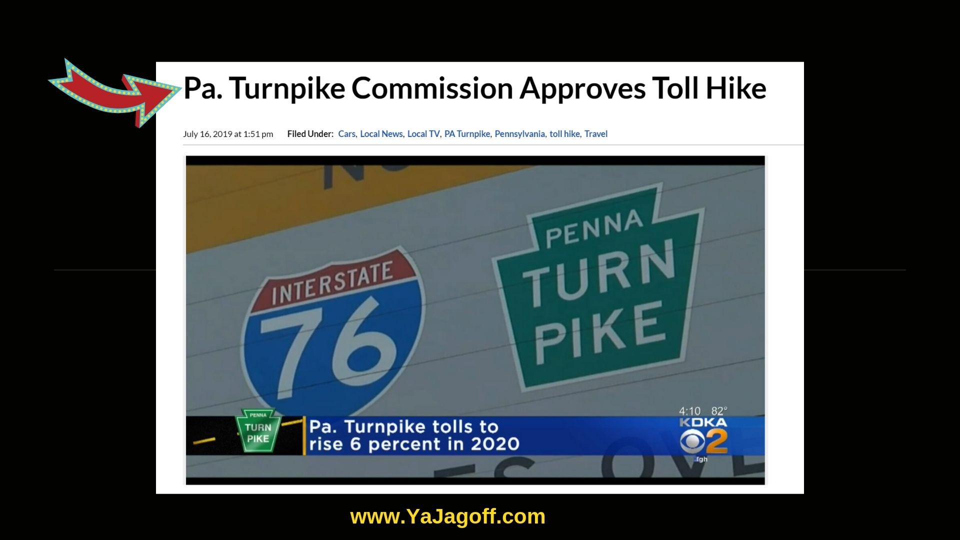 PA Turnpike Toll Hike, Jagoffs