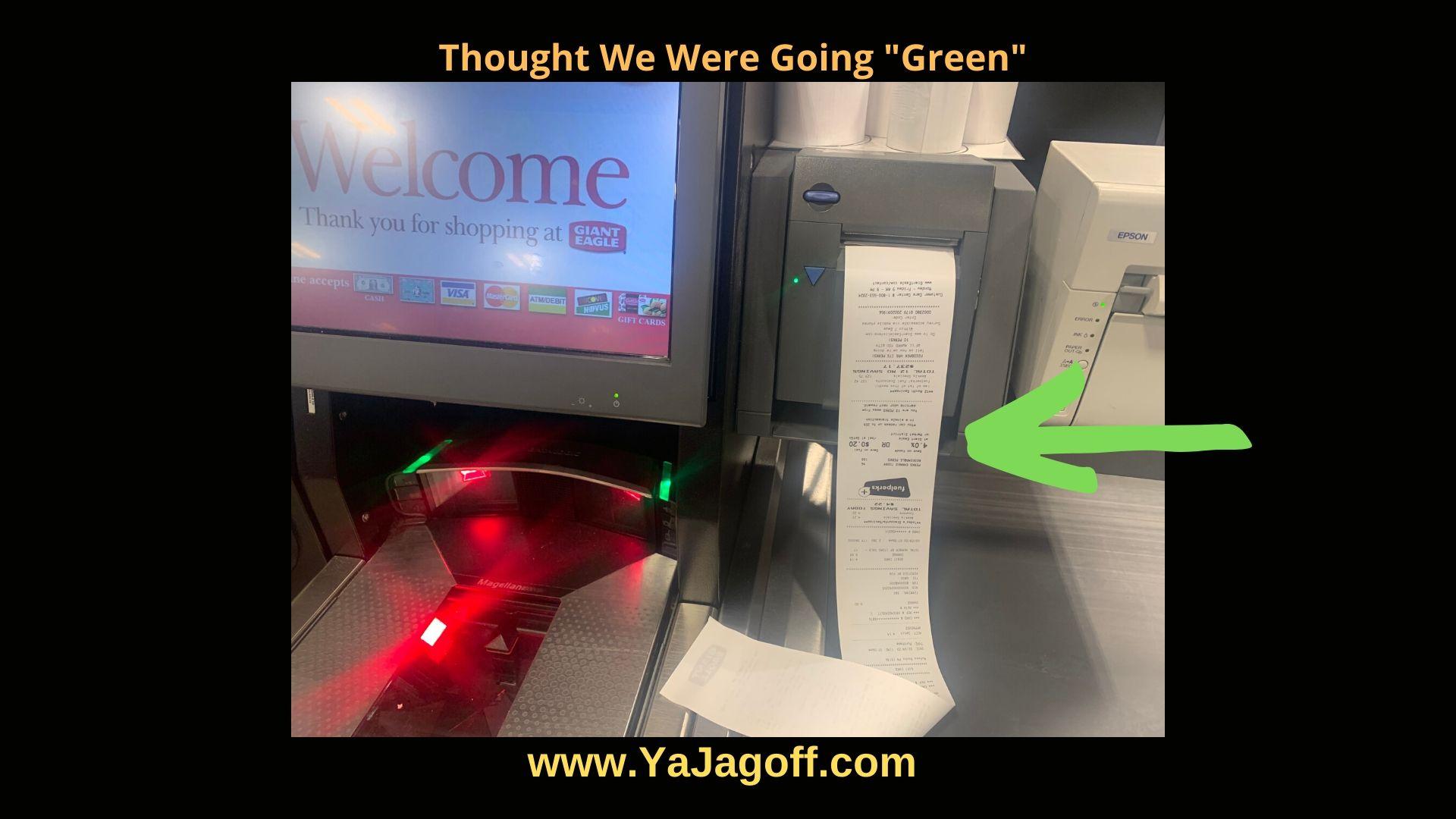 YaJagoff Grocery Receipt
