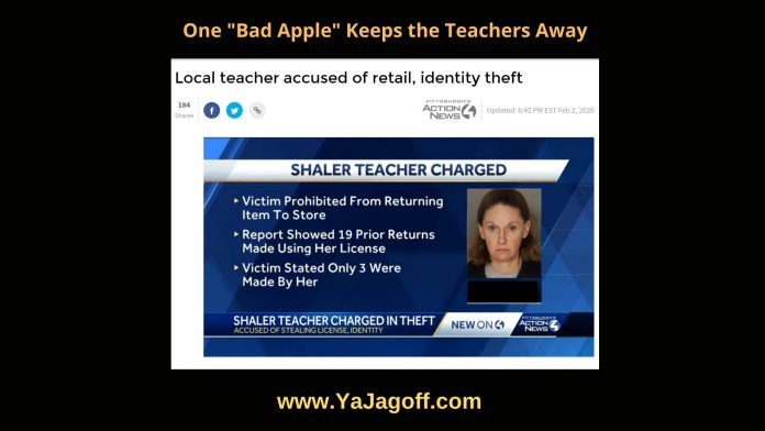 Teacher Identity Stolen Jagoff