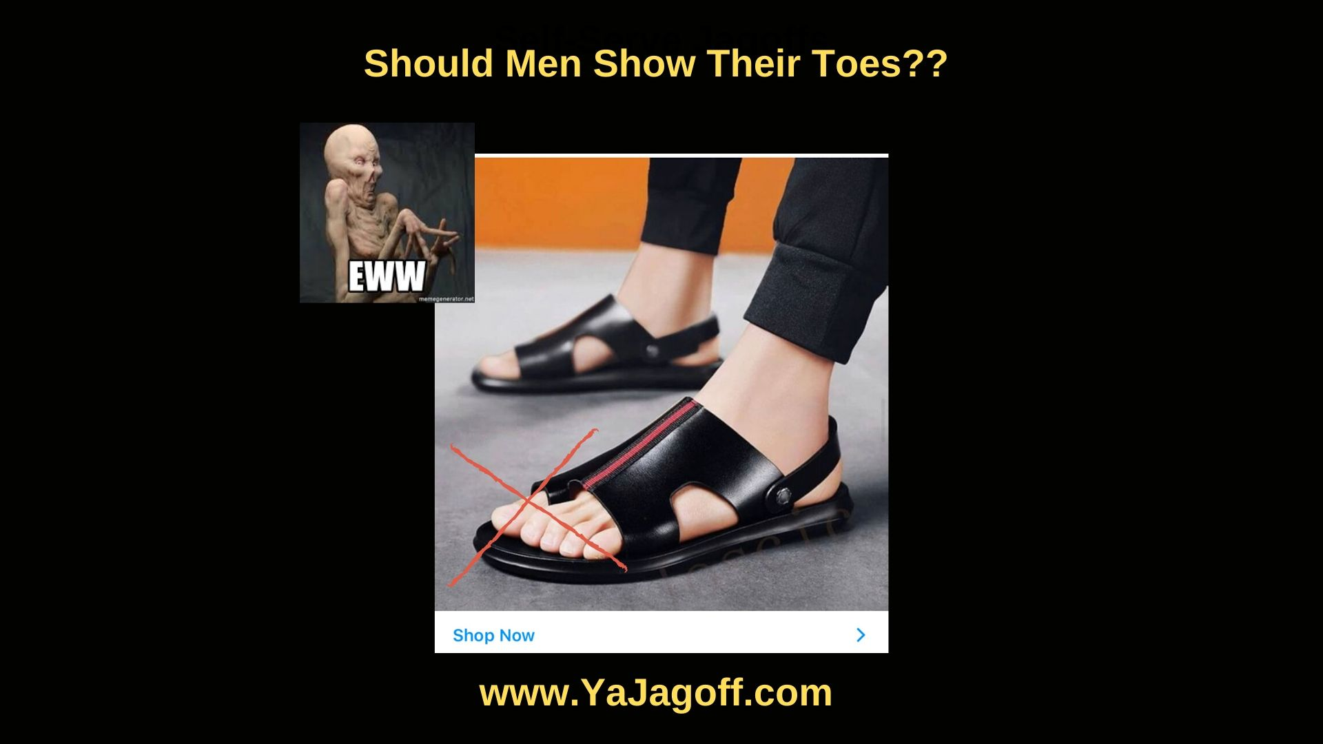 Should Men Show Their Toes