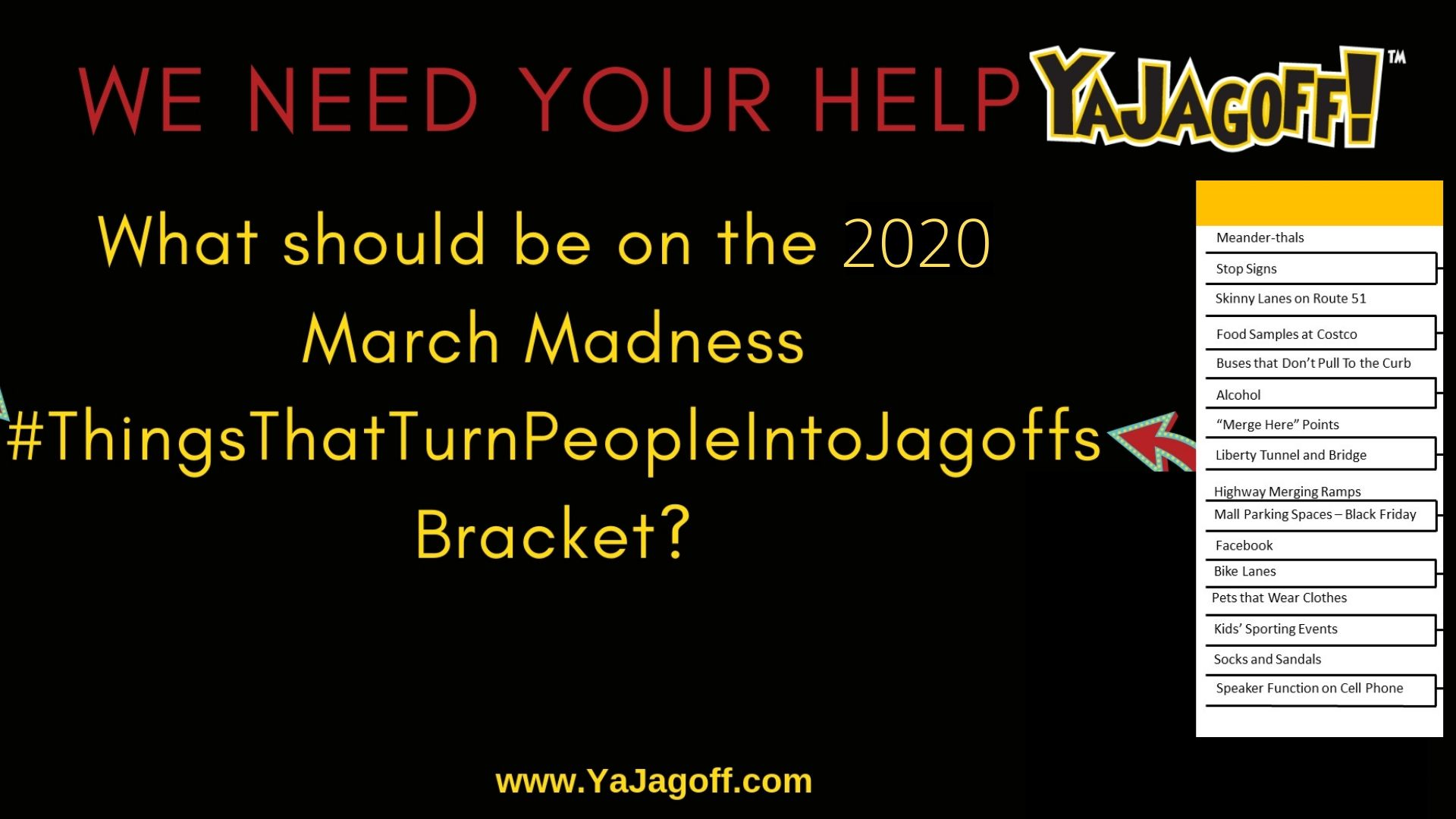 YaJagoff Podcast March Madness