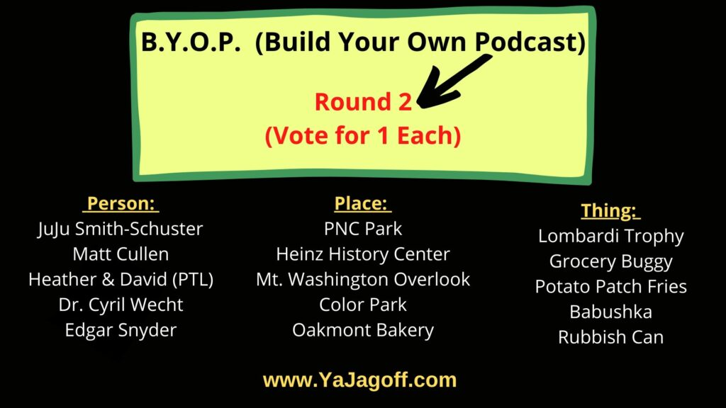 Build Your Own YaJagoff Podcast