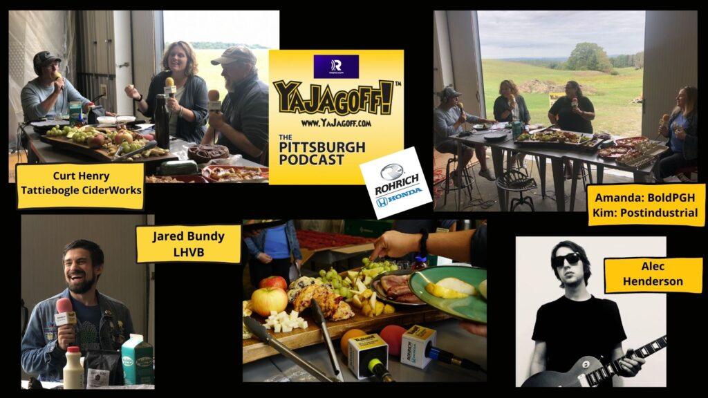 YaJagoff Podcast Guest Collage Tattiebogle Cider