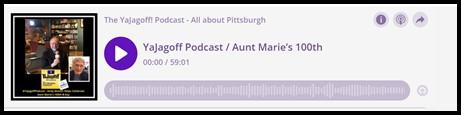 YaJagoff Pittsburgh Podcast Player Bar
