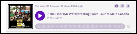 YaJAgoff Podcast Pittsburgh Podcast Player Bar