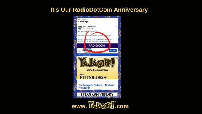 YaJAgoff Podcast Anniversary on RadioDotCom