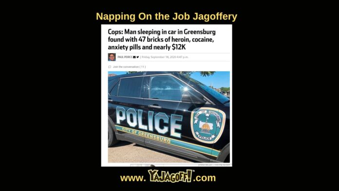 Pittsburgh Jagoff Dumb Criminal that napped in car