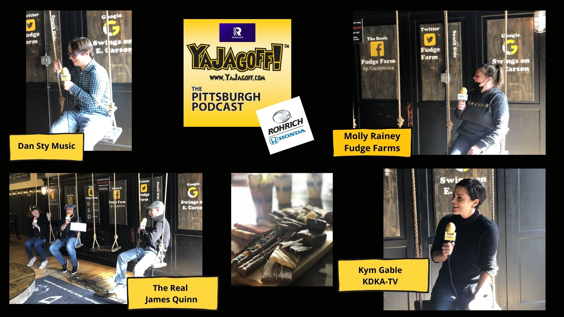 YaJagoff Podcast Collage Fudge Farm