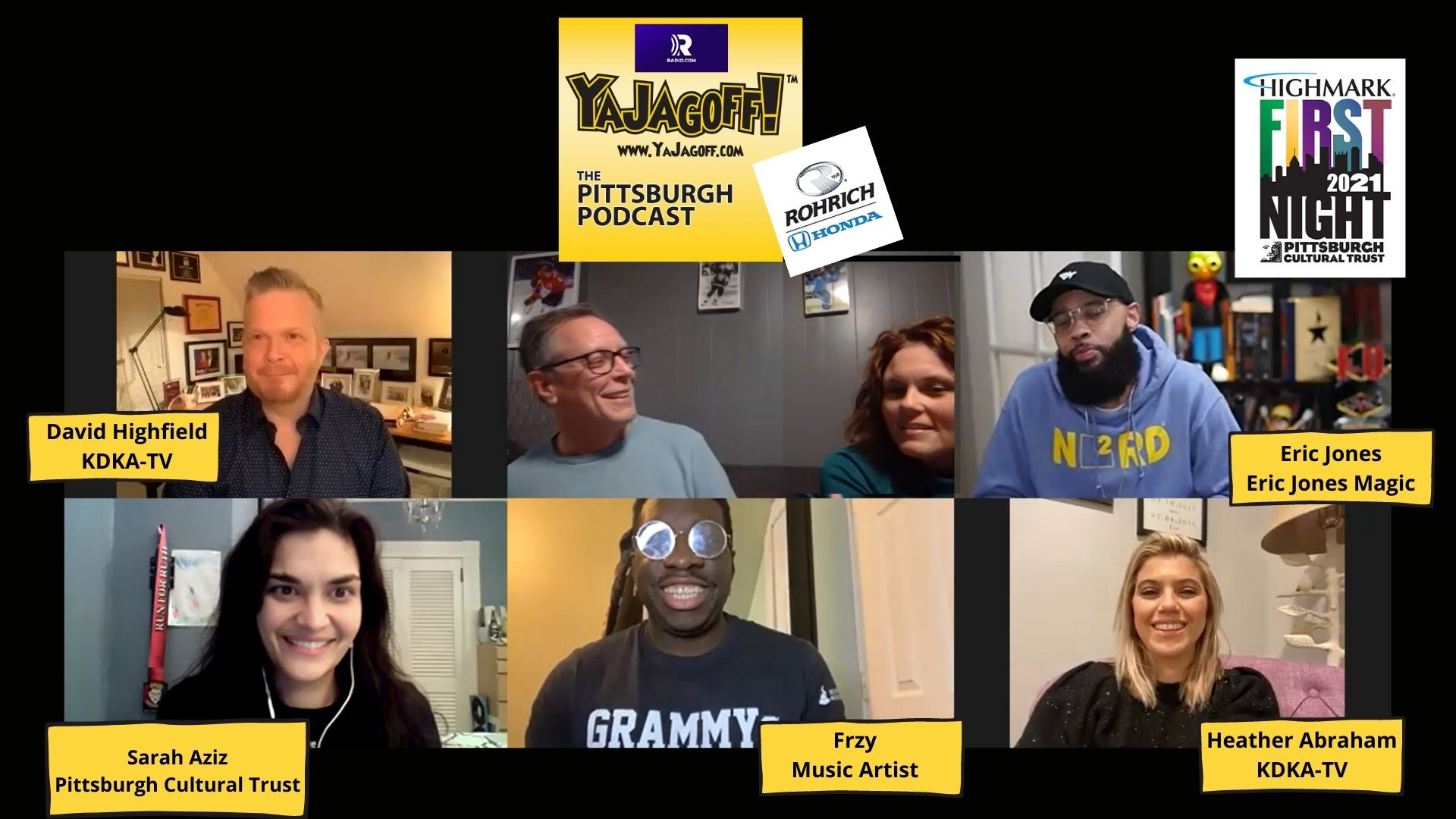 YaJagoff Podcast Pittsburgh Podcast Guests Collage