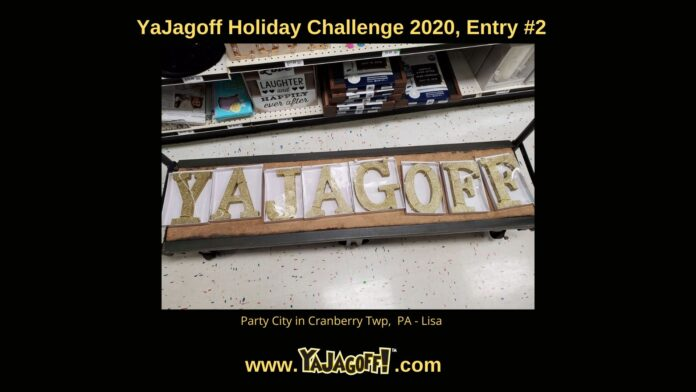 YaJagoff Blog Holiday Challenge
