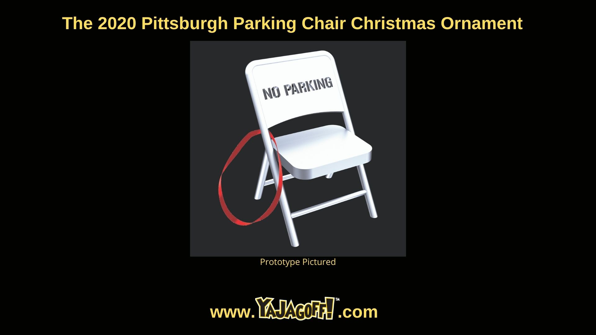 Pittsburgh Parking Chair Ornament 2020