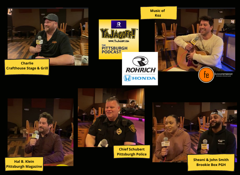 YaJagoff Pittsburgh Podcast Collage of guests