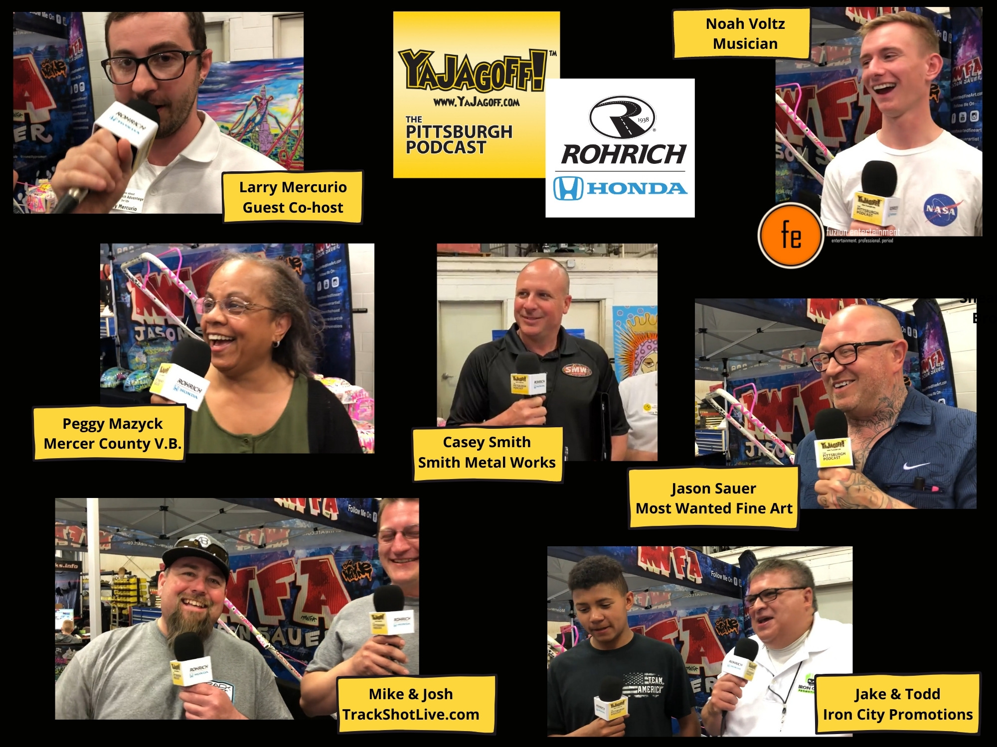 Pittsburgh Podcast Collage of Guests