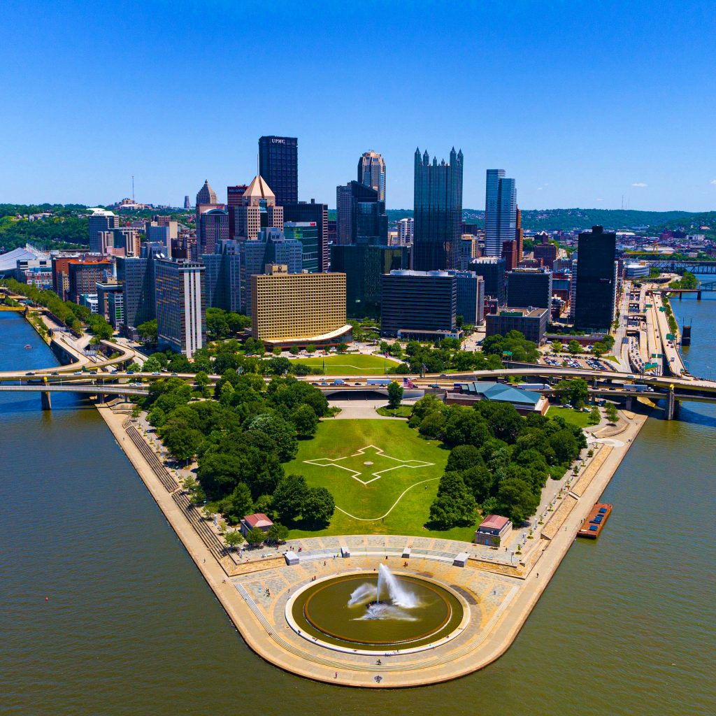 Aerial Photo of Pittsburgh's Point