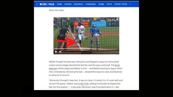 Pirates vs. Mets fair ball