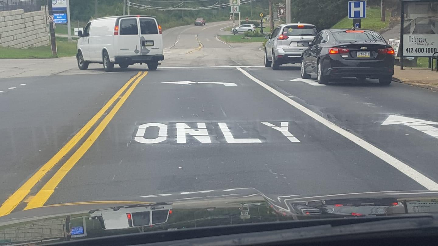 Kennedy Township road typo